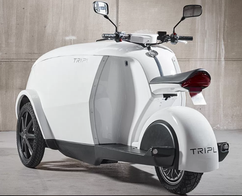 tripl urban cargo electric moped scooter 2019. Black Bedroom Furniture Sets. Home Design Ideas